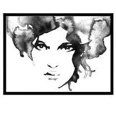 ASA WALLMARK DESIGN - 'HAIR' WATERCOLOUR ART PRINT