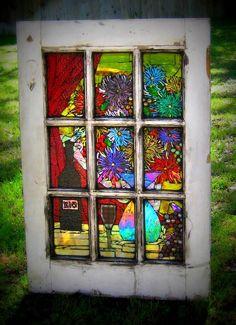 Glass on glass mosaic!   X10 Wine Window - Delphi Stained Glass