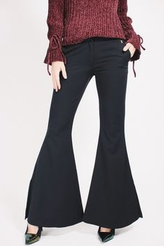 Mote for jenter på nett Flare Pants, Bell Bottoms, Bell Bottom Jeans, Trousers, Shopping, Black, Fashion, Trouser Pants, Pants