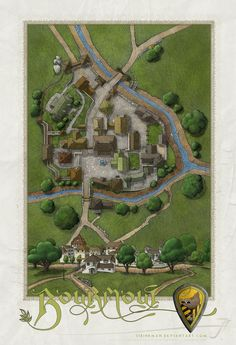 PS illustration Finally completed the full color version of Bourmout. This is the frontside of the map with town info. The WIP thread can be found over on the Cartographers Guild site here - www.ca...