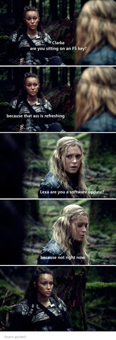 The 100.  Clarke and Lexa.  Clexa