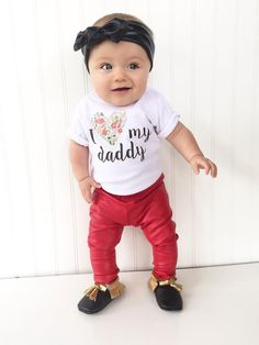 I Love My Daddy Baby Clothing. Baby Girl by LittlePrincessTara