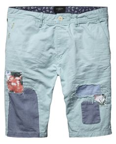 Patches Chino Shorts  - Scotch