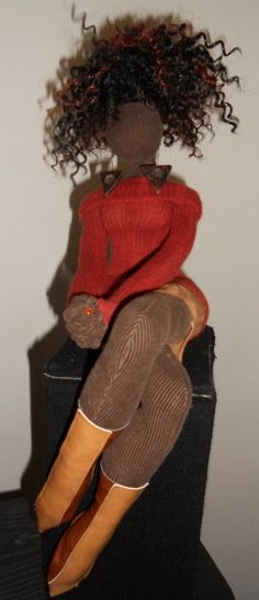 Natural Hair Dolls. BEAUTIFUL HAND CRAFTED DOLLS BY ARTIST TANYA MONTEGUT VIA BLACK CRAFTERS GUILD