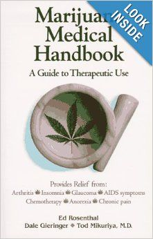 Marijuana Medical Handbook is a one-stop resource that gives candid, objective advice on using marijuana for healing, understanding its effects on the body, safe administration, targeting illnesses, side effects, and the various delivery methods from edibles and tinctures to smokeless vaporizer pipes.