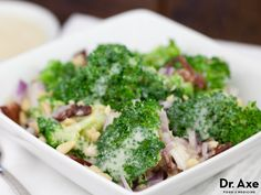 This broccoli salad recipe is easy to make, healthy and delicious.