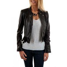 Oakwood - Blouson Brittany 1 noir 501 - pas cher Achat/Vente Blouson femme - RueDuCommerce