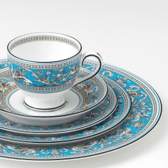 wedgwood turquoise florentine - Google Search