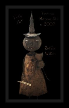 Veenas Mercantile Vintage Style Halloween Doll Patterns, Stencils by Kim Kohler...websiTe...