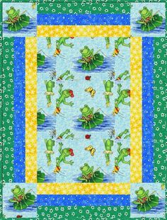 Rockin' Robin Baby Quilt-  Free Pattern on Craftsy.  Be sure to check out Lyn's other patterns!