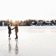 I would love to be proposed to on a frozen pond
