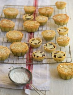 frangipane mince pies with a zesty orange pastry