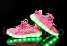 2017 Hot USB Rechargeable Led Shoes for Children Light Kids Sneakers Breathable Weave Sneaker Boys and Girls Casual Neon Shoes Neon Shoes, Lit Shoes, Thigh High Boots Heels, High Heels Stilettos, Girls Shoes Online, Designer High Heels, Light Up Shoes, Knit Sneakers, Shoes Sneakers