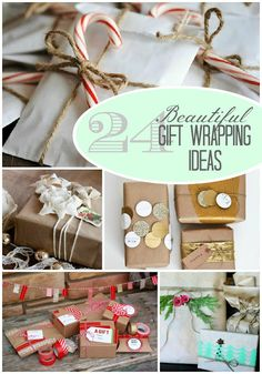 The Crafted Sparrow: 24 Beautiful Gift Wrapping Ideas  and since no one would want to open these- just use them for decoration! gift wrapping ideas, wrapping paper, wrapping, gift wrapping idea, paper, wrapping paper, wrapping present, craft, diy, inspiration