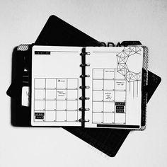 Minimalist bullet journal, monthly spread
