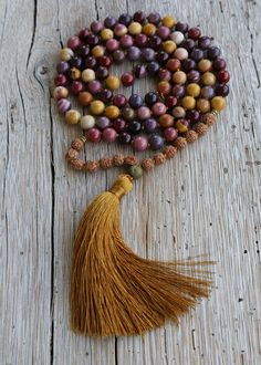 Supreme Nurturer Mala Beads 108 Jasper Rudraksha seed by Jivala