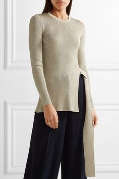 Beige ribbed-knit Slips on Fabric1: 65% rayon, 35% polyester, fabric2: 92% polyamide 8% elastane Hand wash  Made in Italy
