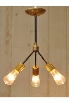 ACME Furniture(アクメ ファニチャー) SOLID BRASS LAMP 3ARM 45 BK PIPE | スタイルクルーズ