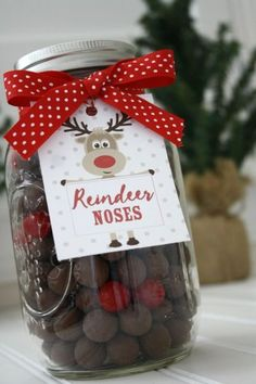 Reindeer Noses Mason Jar, shared by Life Anchored