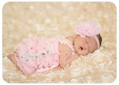 Baby romper Baby Pink Lace Petti Rompernewborn by HappyBOWtique