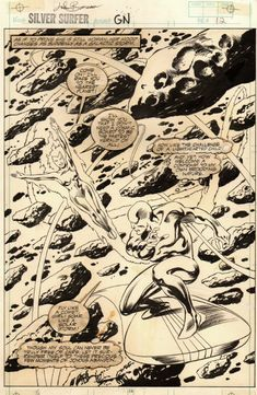 Silver Surfer graphic novel by John Buscema.