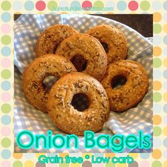 Onion Bagels. YUM! Easy to make and better than store-bought! (Paleo, low-carb, gluten free!) By Jenny at www.AuNaturaleNutrition.com