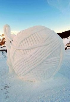 Snow sculpture of YARN!