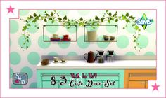 Sims 4 Designs: Ts2 to Ts4: 8-3 Cafe Deco Set (Kitchen Clutter)
