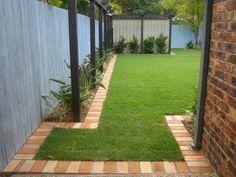idée de bordure de jardin en briques