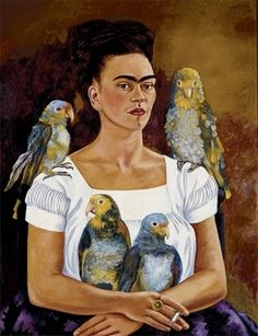 Frida Kahlo: 'Yo y Mis Pericos', 1941. Banco de Mexico Diego Rivera and Frida Kahlo Museums Trust.