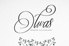 http://The Olwas Script is a modern calligraphy font. It's the perfect font for logotype, headers, fashion