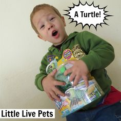 Little Live Pets Turtle Review! Check it out! Watch him swim! http://www.best-gifts-top-toys.com/2015/12/tyler-loves-the-little-live-pets-turtle-toy/