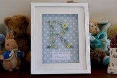 Personalised Button Monogram and Name Baby Gift by ChezPrudence