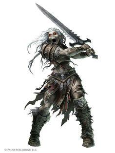Shrieker. An undead similar to a Banshee with an ear piercing shriek, but has a physical body
