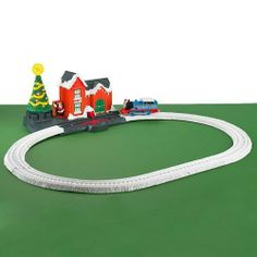 Thomas and Friends Thomas the Tank Engine Christmas Delivery on Sodor by Fisher Price. $33.98. Requires 1 AA Alkaline Battery for Thomas. Christmas Tree lights up.. Perfect to setup under the Christmas tree. Thomas and Friend train. Motorized Holiday Thomas. Thomas and Friends Trackmaster Motorized Railway Christmas Delivery on Sodor.  Complete set with engine-powered features.  Fisher Price.