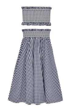 Bring the beloved picnic table pattern to the nightlife scene with this midriff baring set from Zara.