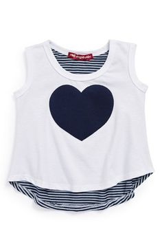 Red Wagon Baby Heart Appliqu? Tank (Toddler Girls) available at #Nordstrom