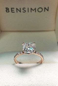 rose gold cushion cut diamond engagement rings for women unique designs