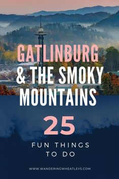 25 things to do in Gatlinburg and the Smokey Mountains Gatlinburg Vacation, Gatlinburg Tennessee, Tennessee Vacation, East Tennessee, Ober Gatlinburg, Gatlinburg Restaurants, Tennessee Cabins, Pigeon Forge Tennessee, Zermatt