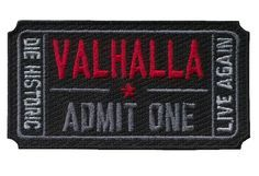Velcro Ticket to Valhalla Vikings Mad Max Patch - Black