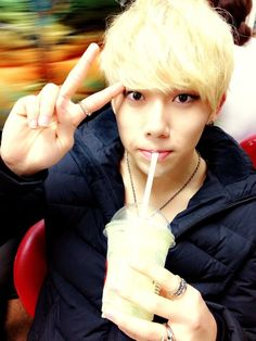Miss the blonde hair on him.. Gosh he is the cutest thing ever *^*
