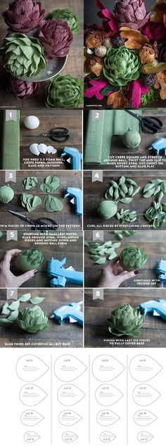 Paper crafts and paper flowers
