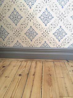 My rural dream: light blue, thunder gray, gray blue - - Swedish Wallpaper, Home Wallpaper, Sweden House, Interior And Exterior, Interior Design, Girl Bedroom Designs, Villa Design, Scandinavian Interior, My Dream Home