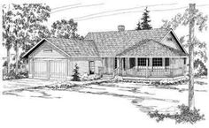 HousePlans.com 124-154=== Amber, Cory, and I would like this one too.... it has a partial wrap around porch