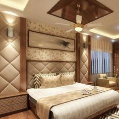 Bedroom bed design - Interior Designer in Thane Interior Designer in Mumbai Modern Luxury Bedroom, Luxury Bedroom Design, Bedroom Furniture Design, Master Bedroom Design, Contemporary Bedroom, Luxurious Bedrooms, Bedroom Classic, Bed Furniture, Ceiling Design Living Room