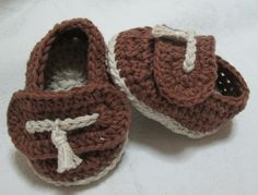 Mocassini all'uncinetto Crochet Baby shoes