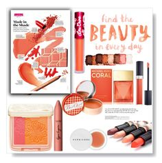 """""""Coral and pink together.."""" by gul07 ❤ liked on Polyvore featuring beauty, Michael Kors, Paul & Joe Beaute, tarte, Christian Dior, NYX, Herbivore, Soap & Paper Factory and Lime Crime"""