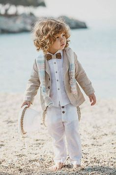 The set consists of a pair of trousers with suspenders a shirt a jacket a scarf a hat a bow tie Baptism Clothes For Boy, Baptism Outfit, Kids Wear Boys, Kids Fashion Boy, Christening, Boy Outfits, Baby Boy, Flower Girl Dresses, Hipster