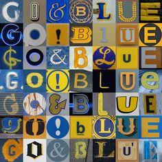 Go Blue! Michigan Wolverines Maize & and Blue