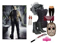 This scary sexy Jason Voorhees Halloween Costume is perfect for those ladies who want a bit of an edge this year! Featuring Chicastic corsets, purses, scarves and jewelry!  #sexy #Halloween #costume #clutch #fashion #chicastic